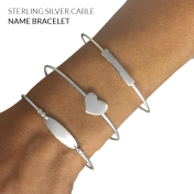 Sterling Silver 1.25mm Cable Name Bracelet