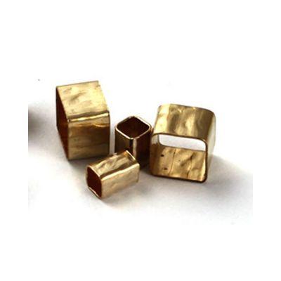 Gold Filled 4/5mm Hammered Square Tube
