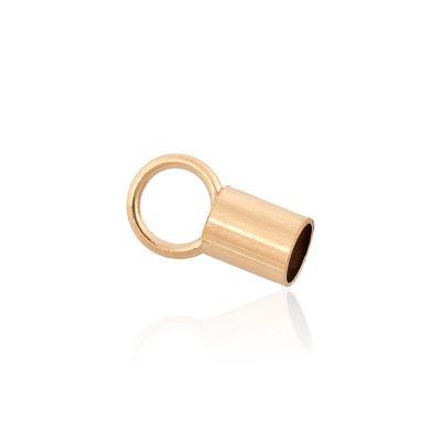 Gold Filled 2.6mm End cap 4mm Long