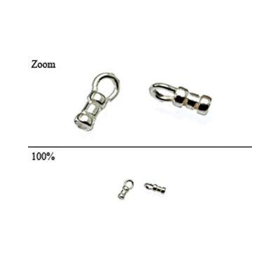 Sterling Silver 1.2mm I/d, 4.3mm long Compression End cap