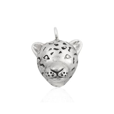 Sterling Silver Leopard's Face Pendant