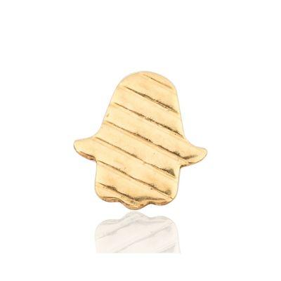 Gold Filled Flat Strips Textured Hamsa