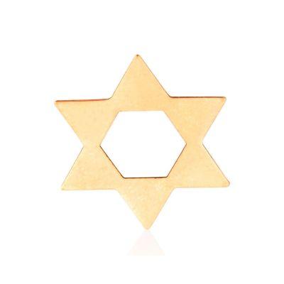 Rose Gold Filled Flat Star Of David