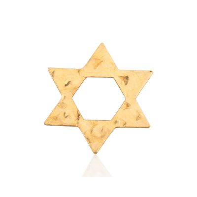 Gold Filled Hammered Star Of David