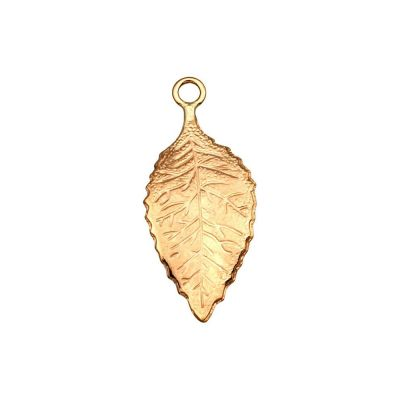 Rose Gold Filled Small Vaulted Leaf Pendant