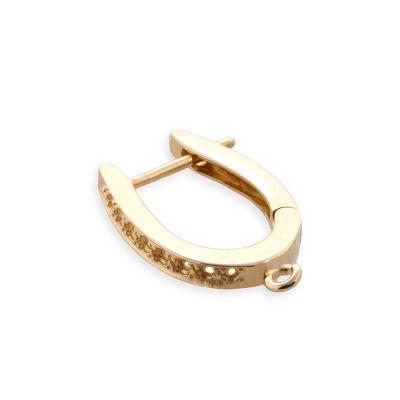 14KY 18x1pt Diamond Earrings