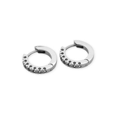 18KW Hoop Earring for 7 0.75pt stones