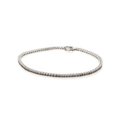 18KW Square Tennis Bracelet 18cm long for 1pt round stones