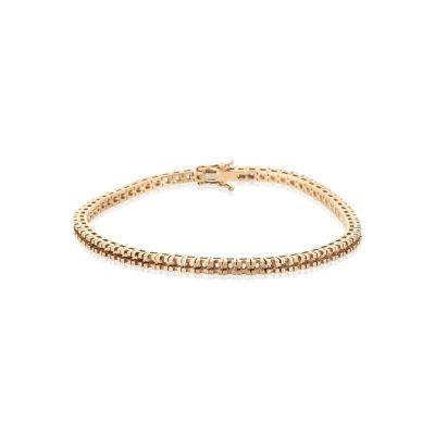 18KW Square Tennis Bracelet 18cm long for 4pt round stones
