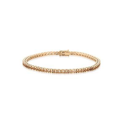 18KW Square Tennis Bracelet 18cm long for 5pt round stones