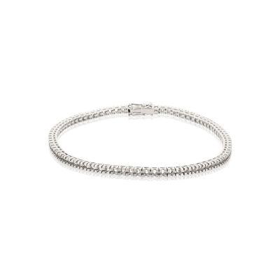 18KW Square Tennis Bracelet 18cm long for 3pt round stones
