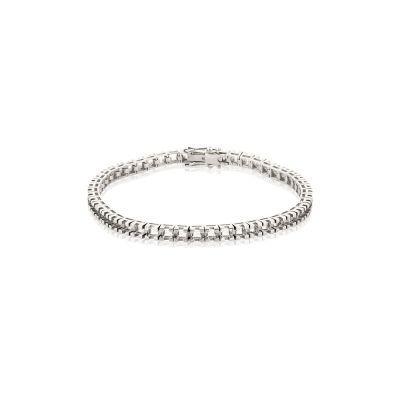 18KW Square Tennis Bracelet 18cm long for 10pt round stones