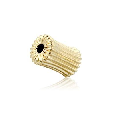 14K Yellow Gold Corrugated Dogbone Bead 5X8.5mm 064BCS32600000