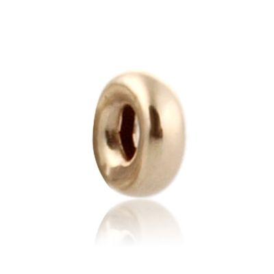 14K  Gold yellow 2.5mm  roundel bead 064BLP10000000