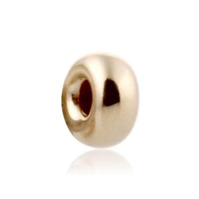 14K  Gold yellow 3.2x1.5mm roundel bead 064BLP10100000