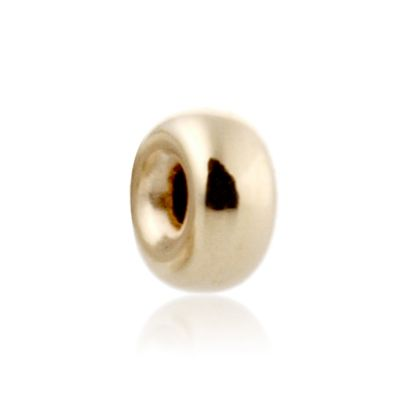 14K  Gold yellow 4.2x2mm roundel bead 064BLP01200000