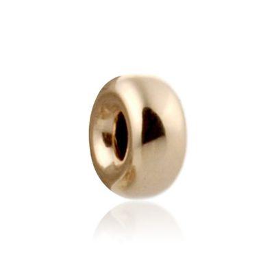 14K  Gold yellow 4.2x2mm roundel bead 064BLP10200000