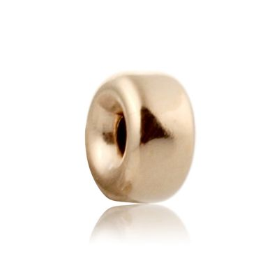 14K  Gold yellow 5.2x2.6mm roundel bead 064BLP10300000