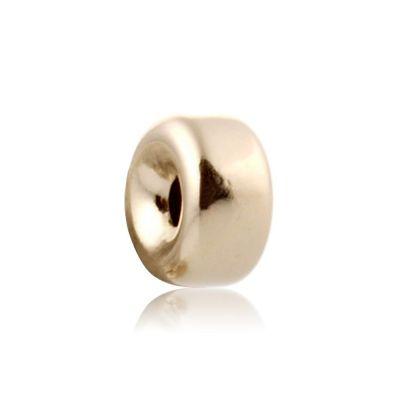 14K  Gold yellow 6.1x3.2mm roundel bead 064BLP10400000