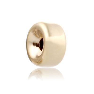 14K  Gold yellow 7.1x3.6mm roundel bead 064BLP10500000