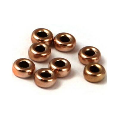 Rose Gold Filled 3mm Roundel Bead