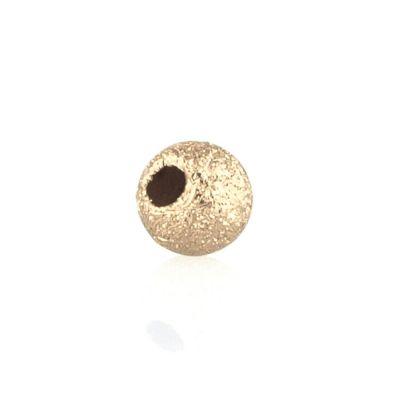 14K  Gold yellow 3mm lazer finish bead 064BDZ793000000