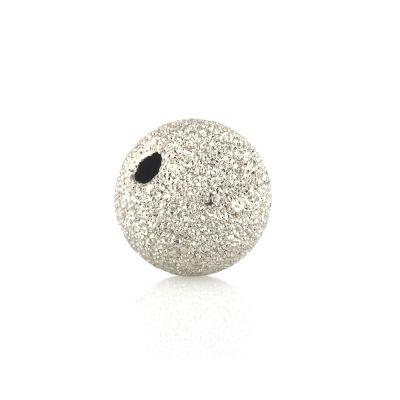14K 12mm  Gold white bead lazer finish 074BDZ54000000