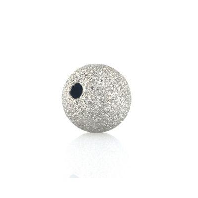 14K 8mm  Gold white laser finish bead  074BDZ77800100