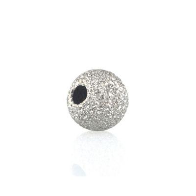 14K White Gold Lazer Finish Bead 4mm 074BDZ76400000