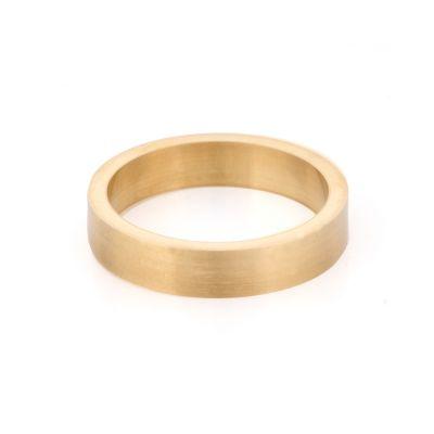 14KY 4mm flat Wedding bend size 54