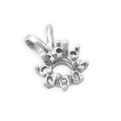 14KW Round 25pt setting cluster pendant + 8 2pt stones