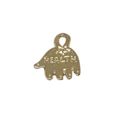 14K Gold Plated Small Health Hamsa Pendant