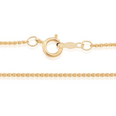 18K Yellow Gold 1.05mm 16.5 (42cm) Spiga Chain