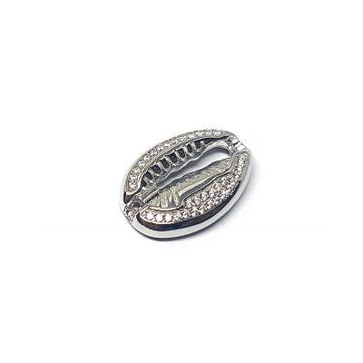 Sterling Silver C'z Conch Pendant