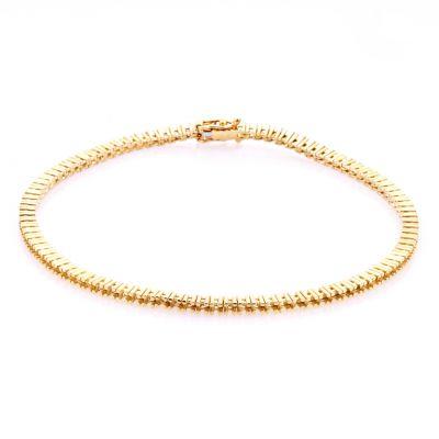 14KY Tennis Bracelet 18cm long for 1pt round stones
