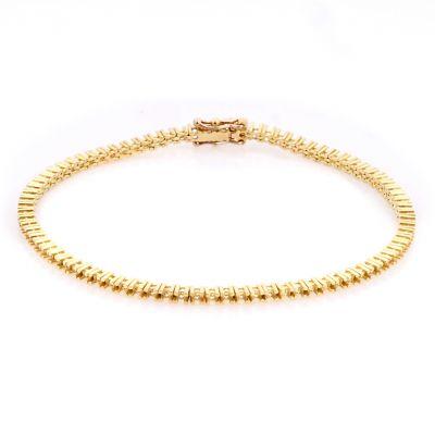 14KY Tennis Bracelet 18cm long for 2pt round stones