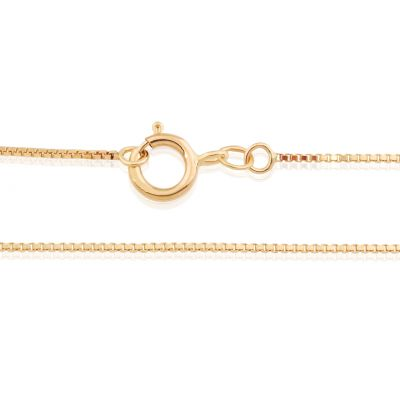 "14KY 0.65mm Venetian Box chain 16.5"" (42cm)"