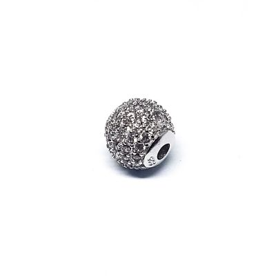 Sterling Silver C'z Bead 7mm