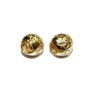 14K Gold Plated Flower Bead