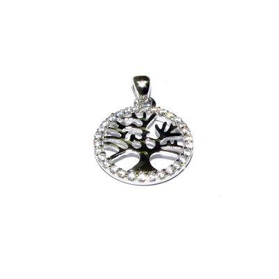 Sterling Silver C'z Life Tree Pendant
