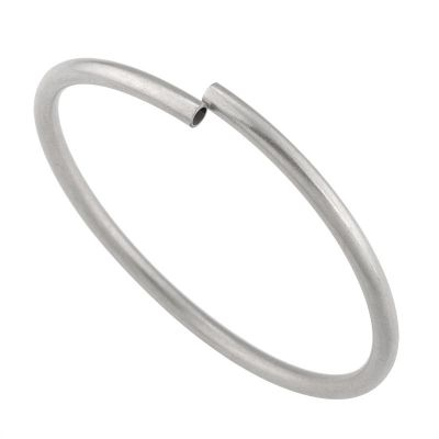 925 Sterling Silver Round  Bangle Tube 4mm/0.5mm/63mm