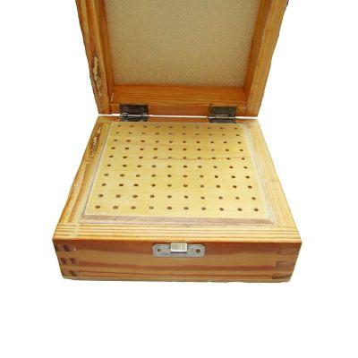 Burrs Wooden Box  W/ 100 holes
