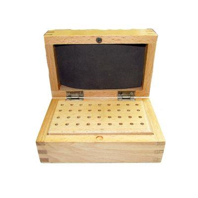 Burrs Wooden Box  W/ 36 holes