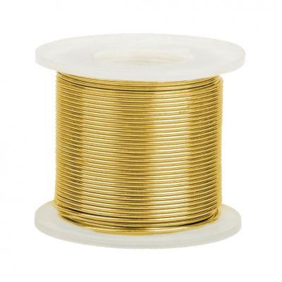 14K Yellow Gold Round Wire 0.3mm/28 gauge