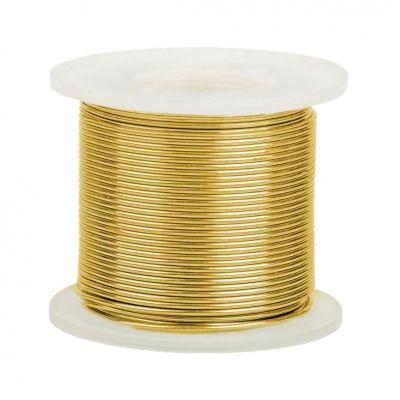 14K Yellow Gold Round Wire 0.4mm/26 gauge