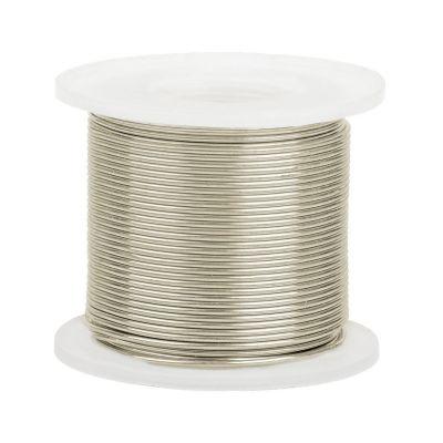 14K White Gold Half Round  Wire 3mm