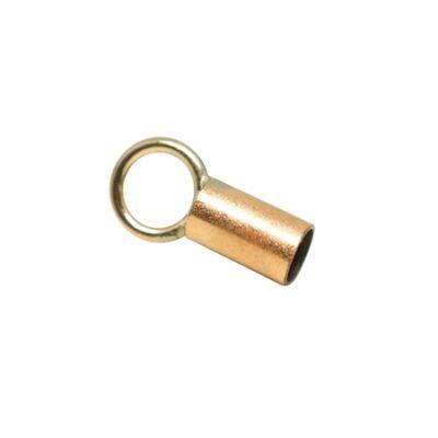 Yellow Gold Filled End cap 0.9mm(I/D) 3mm Long