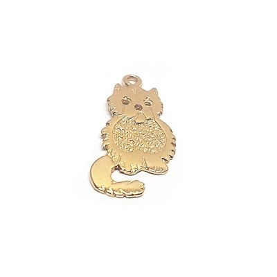 14K Gold Plated Big Cat Pendant