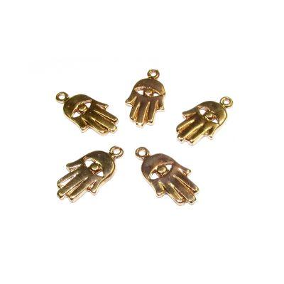 14K Gold Plated Hamsa Pendant