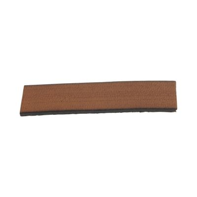 Leather Dark Musterd Flat Strip 7X2mm